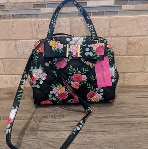 New Betsey Johnson dome satchel with bow